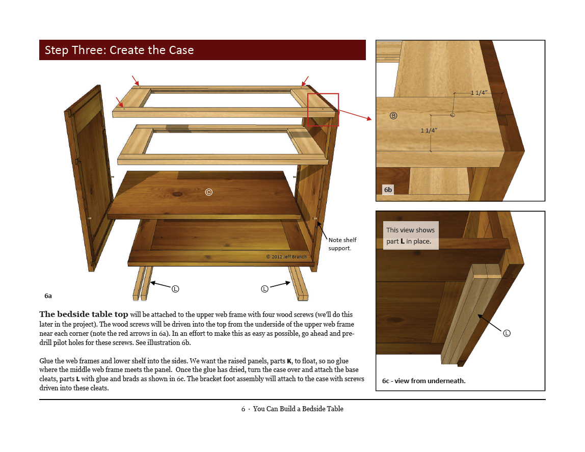 plans for bedside cabinet