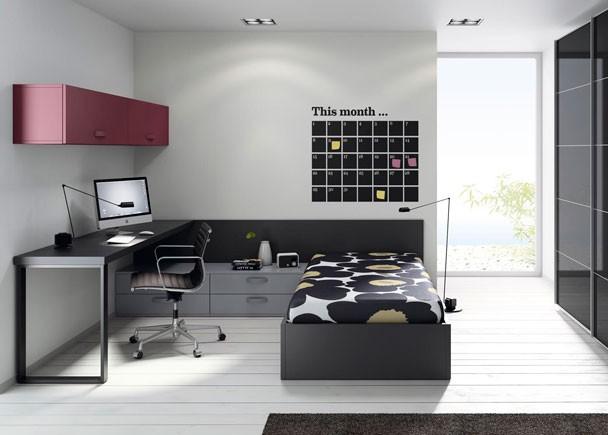 Habitaciones juveniles para adolescentes y jovenes for Sofa cama para habitacion juvenil