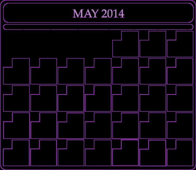 Blank May 2014 Calendar Printable Printable Calendar 2014 Blank
