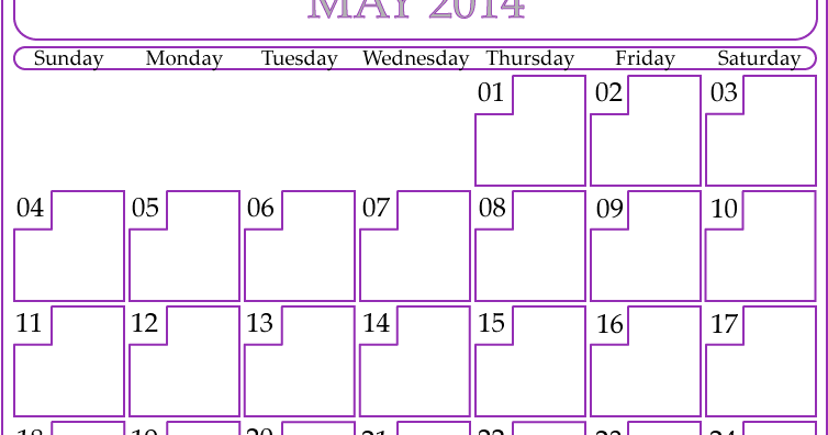 Blank May 2014 Calendar Printable - Printable Calendar ...