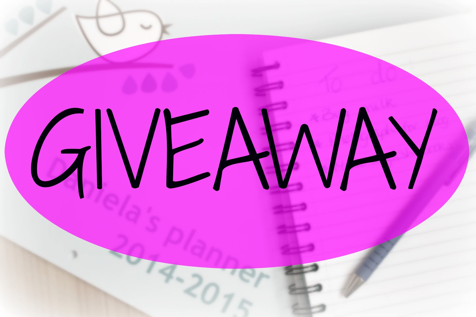 Enter my latest GIVEAWAY!