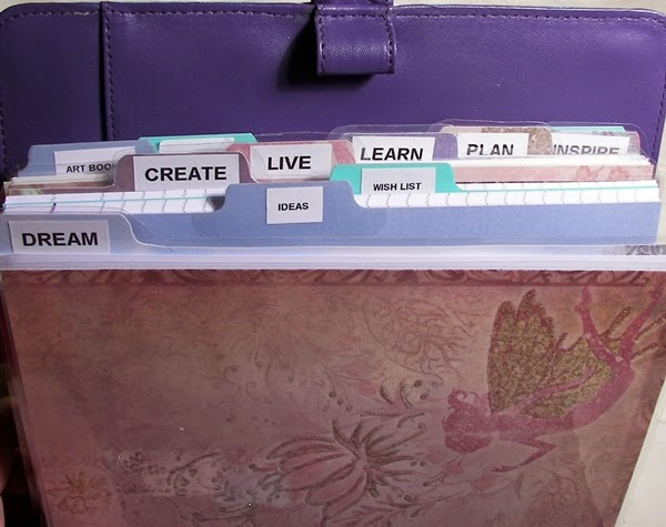 Art Planner Sections and Tabs