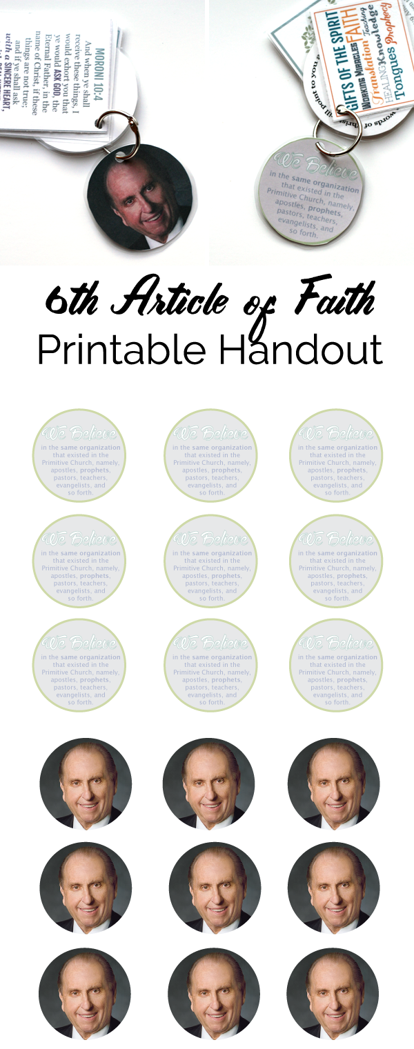 Primary Manual 4 Lesson: 2 Follow the Prophet Free Printable Handout