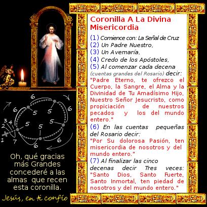 la divina misericordia con el rosario aprende