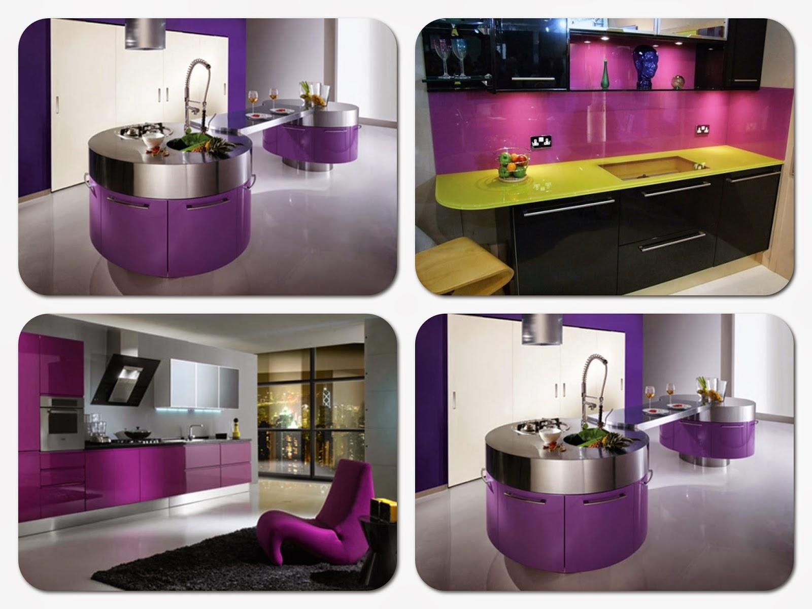 Home Decor Attractive Purple Kitchens