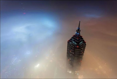 On the Top of the Shanghai Tower