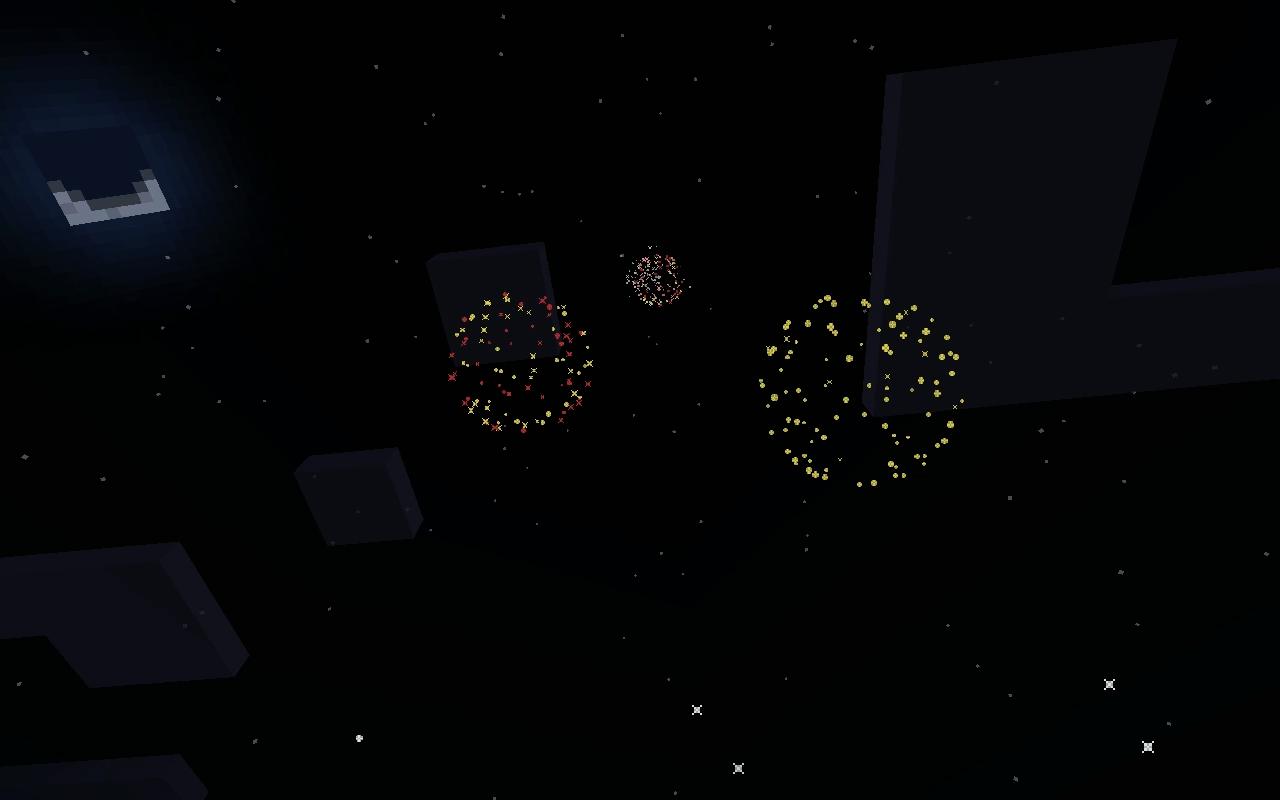 マイクラでは最初に作った花火は「小玉」と呼ばれる小さな花火になるので、次は「大玉」と呼ばれる大きな花火を作成したいと思います。