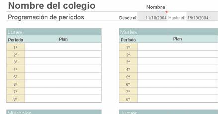 planes de clases