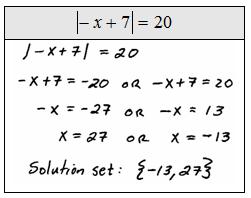 OpenAlgebra.com: Absolute Value Equations