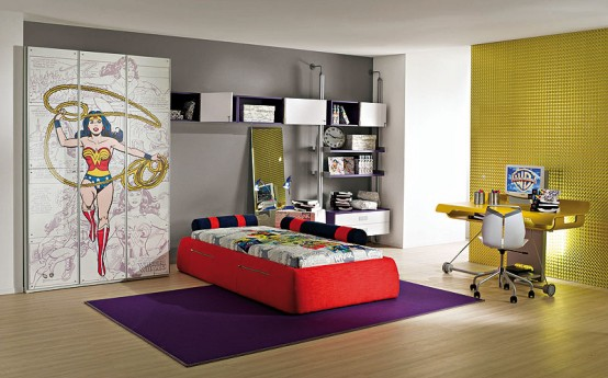 Beautifull wallpapers interior designing of kids rooms for Funky apartment decor