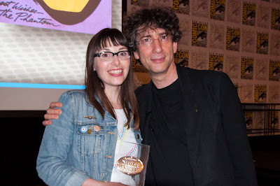 Ashely Challenger and Neil Gaiman, Eisner Awards, SDCC13, San Diego Comic Con, Spirit of Retailer Award, Challengers Comics + Conversation