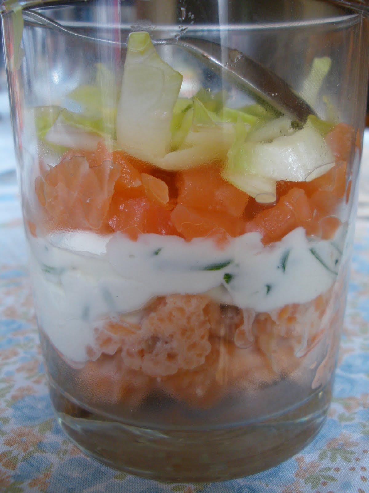 Verrine saumon et endives thermomix recette de cuisine for Entree fraiche et rapide