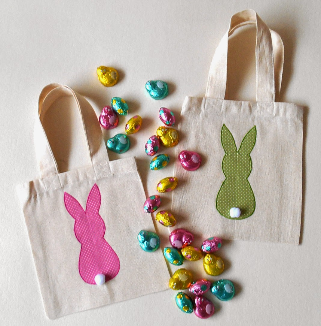applique bunny bags
