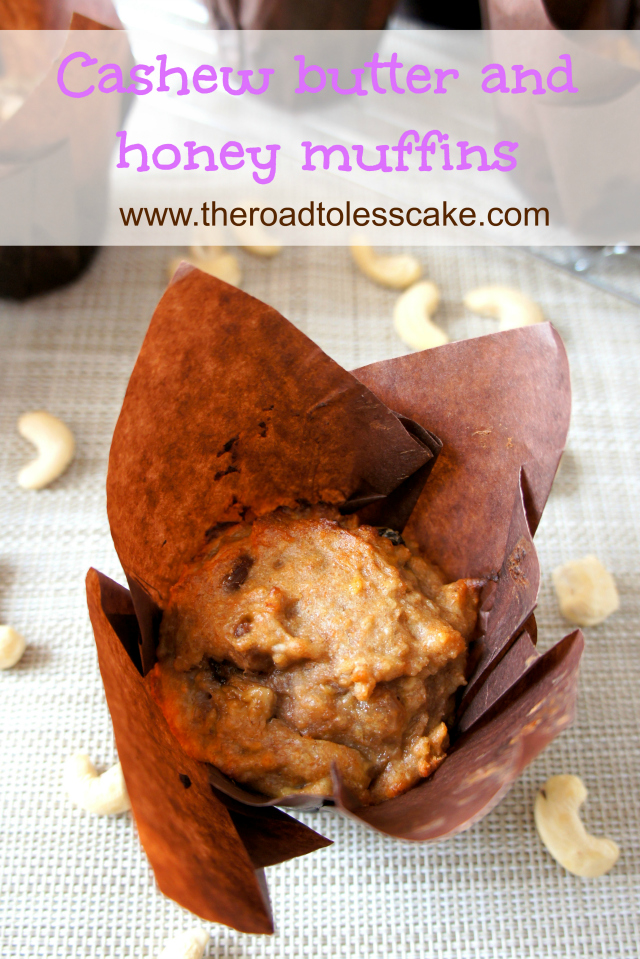 Cashew butter and honey muffin