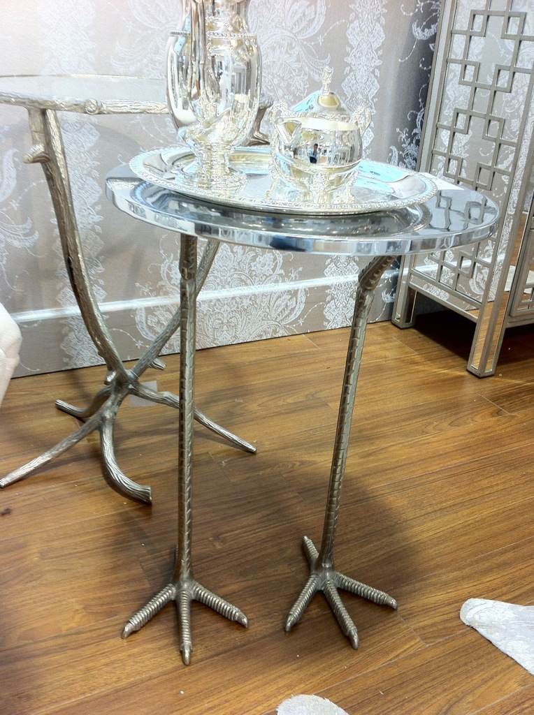 Here Are A Few Items That Caught My Eyes: Quirky Side Tables With Polished  Chrome Top For A Health Dose Of Whimsy, And A Cluster Of Vintage Inspired  ...