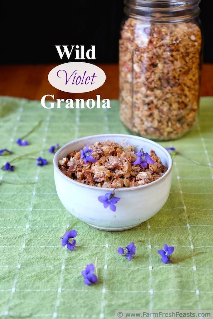 Wild Violet Granola   Farm Fresh Feasts