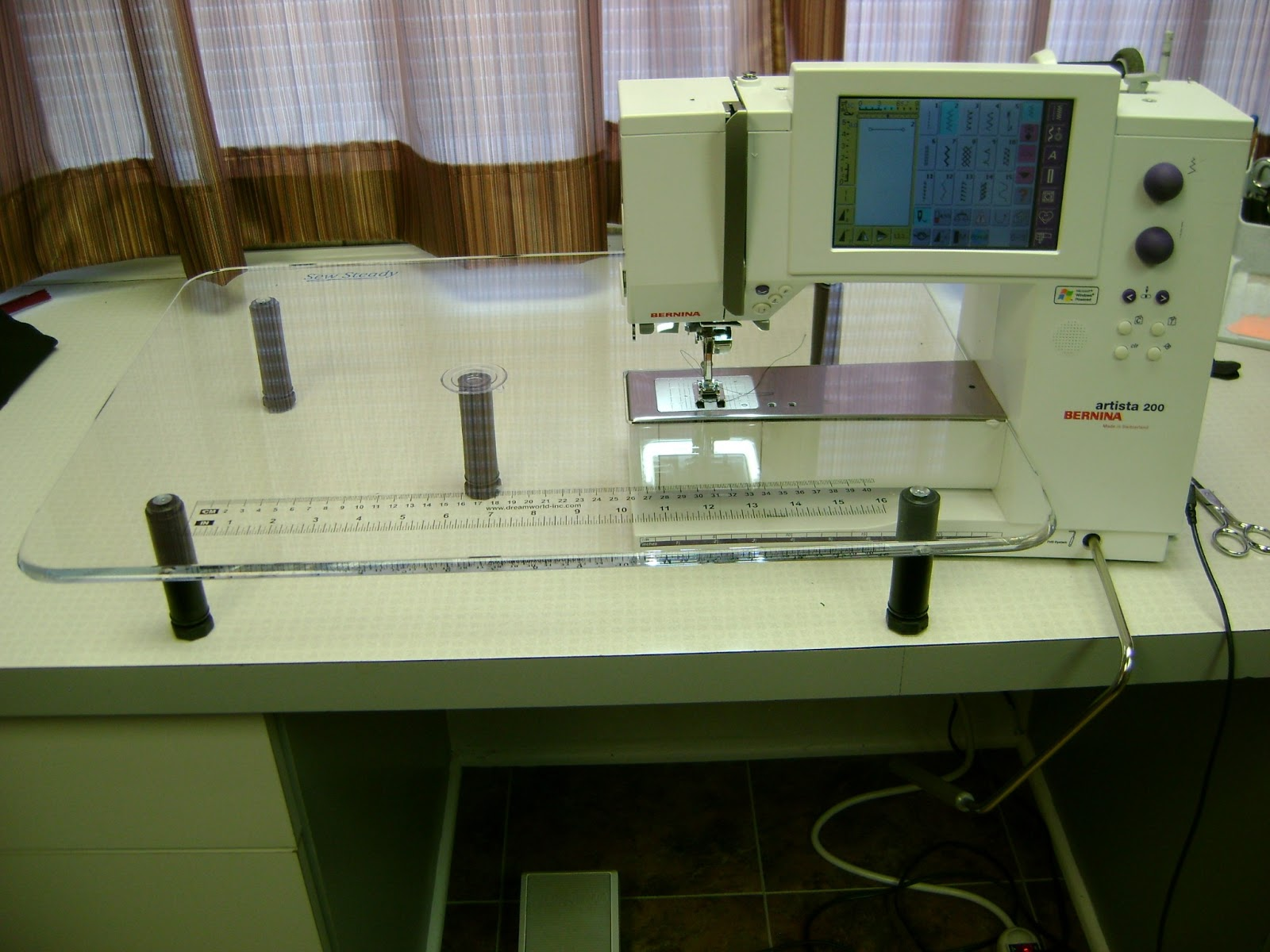plexiglass extension table for sewing machine