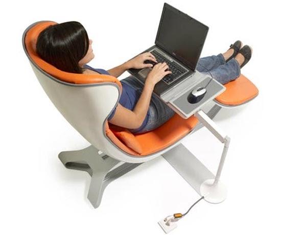Comfortable Laptop Workstation By Manuel Saez