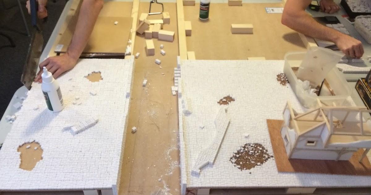 BLOODYdice: Mordheim Table - Building the board