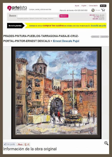 ARTELISTA-PINTURA-PAISAJES-PRADES-PUEBLOS-TARRAGONA-CUADROS-ARQUITECTURA-PINTOR-ERNEST DESCALS