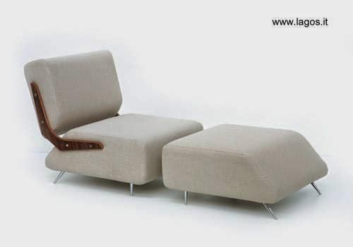 Moderno sillón con apoyapiernas separado de diseño búlgaro