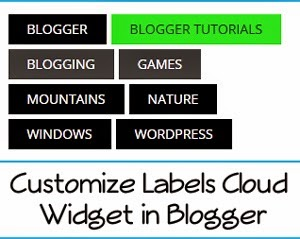 Add best Label cloud widget in blogger | Blogger ustaad