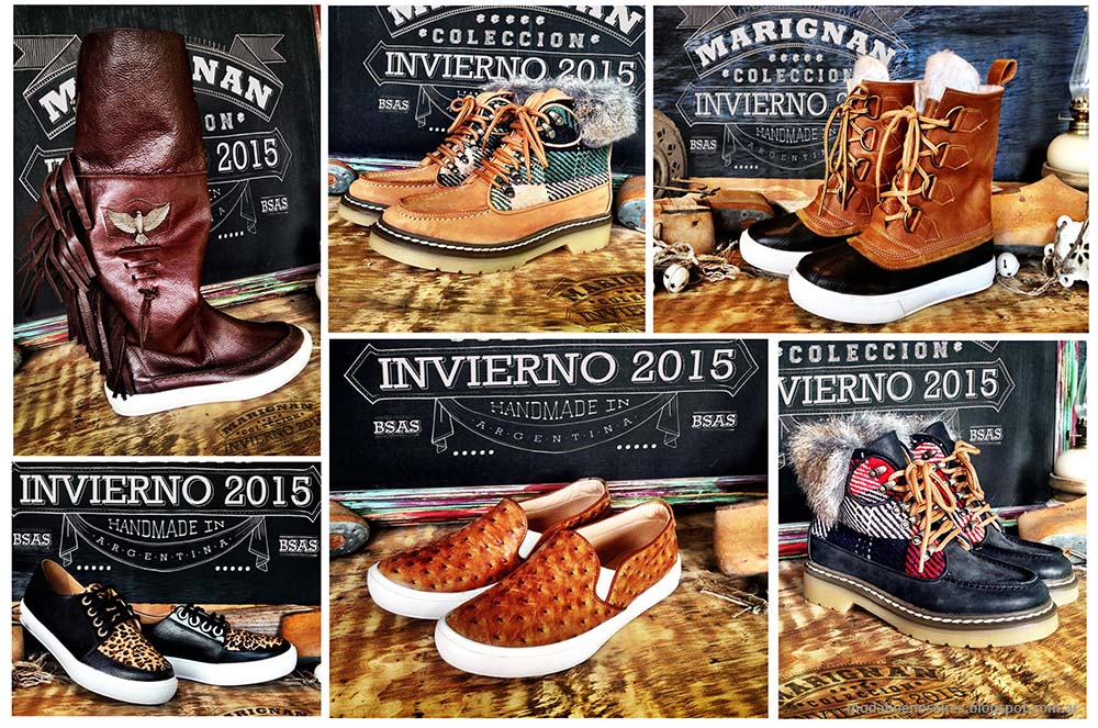 Moda otoño invierno 2015 Zapatos. Marignan otoño invierno 2015 zapatos y botas.