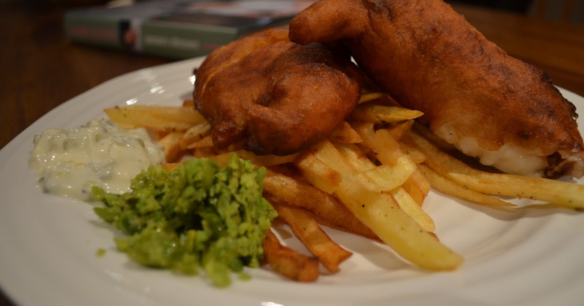 Foodie funday sunday jamie oliver fish chips mushy peas for Wave fish and chips