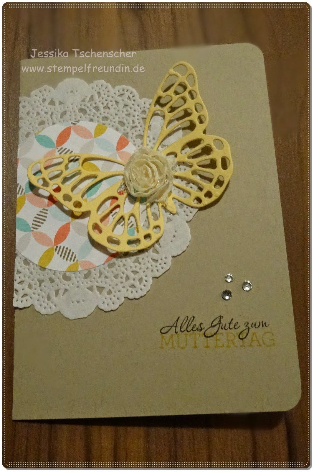 Stampin' Up!, Schmetterling, Thinlits, BigShot, Spitzendeckchen, Retro, Clean and Simple, www.stempelfreundin.de