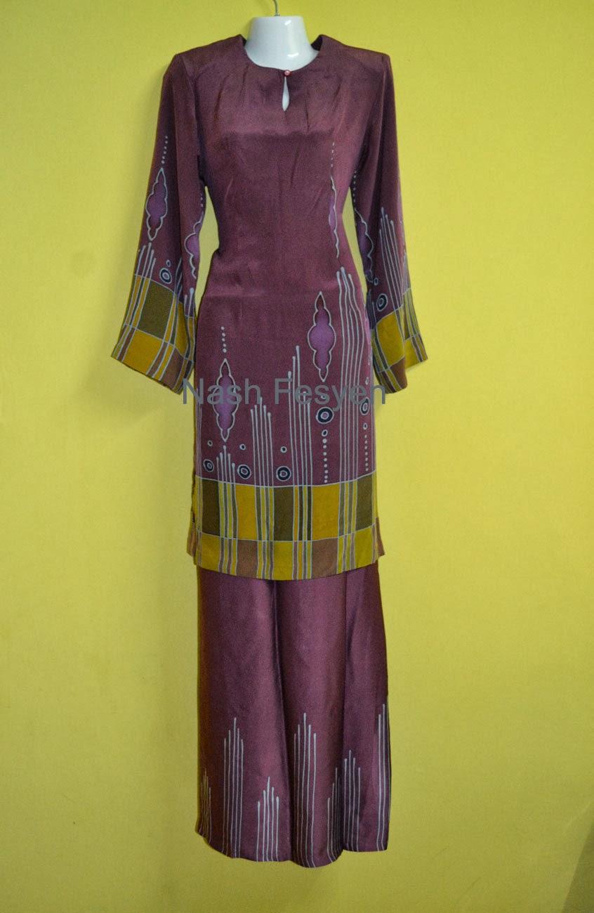 Baju Mini Kurung Moden Batik Sutera