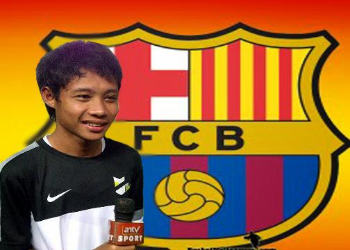 Evan Dimas Nongol di Situs Resmi Barcelona