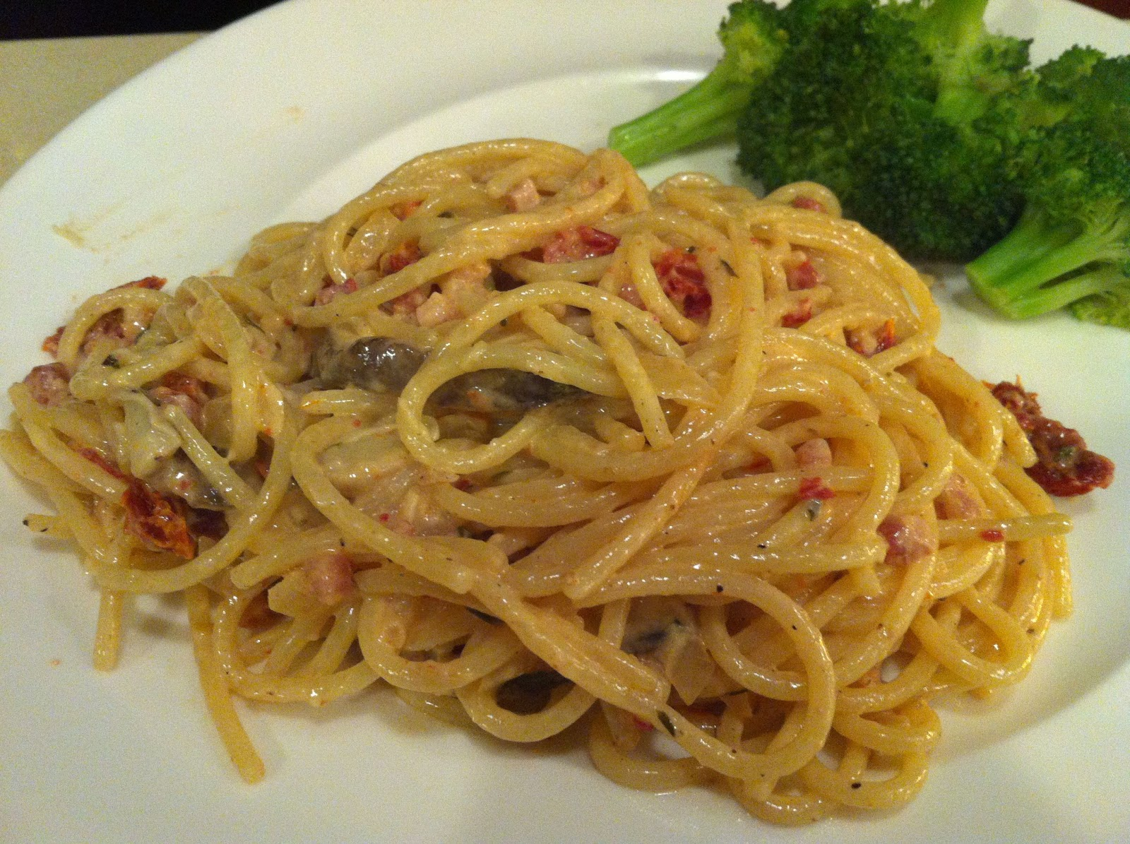 What's for Meat?: Sundried Tomato, Mushroom & Pancetta Pasta