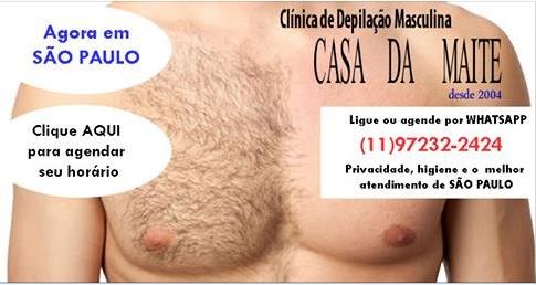 Depilação Masculina - Casa da Maite