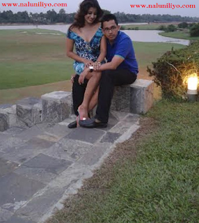 Nadeesha Hemamli with boyfriend Udith Lokubandara who got defeated in last parliamentary election