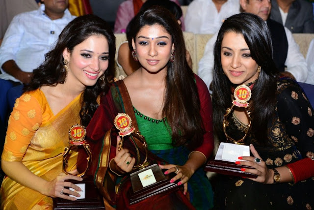 Tamanna Pics,Nayanthara Stills,Trisha Photos in Santhosam Film Awards 2012 Gallery