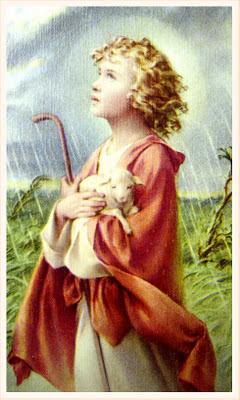 postal religiosa vintage