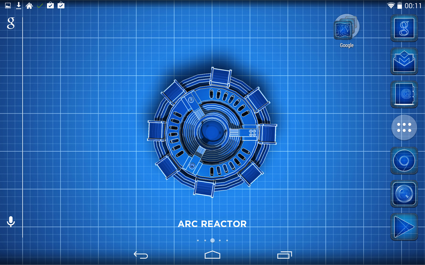 Blueprint ironman theme v101 apk rskmania requirements android 23 overview a blueprint theme of ironmans mark vii suit work on apex adw nova launchers malvernweather Gallery