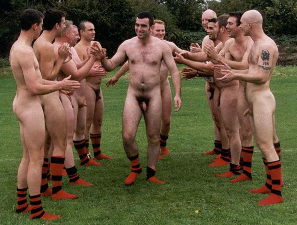 Rugby players naked
