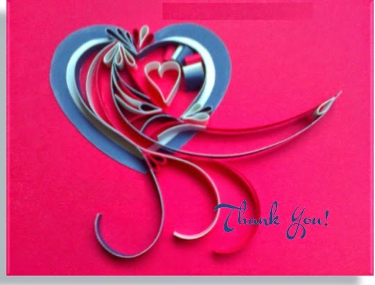 A Quilled Heart Thank You to all our Veterans on Veterans Day from Antonella