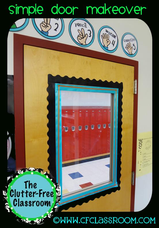 Simple Classroom Door Decor ~ Simple door decor classroom clutter free