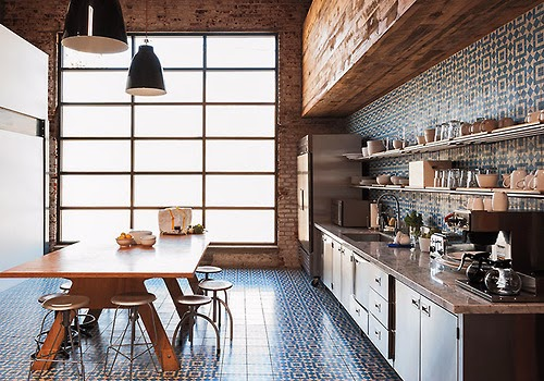 Kuchnia, kitchen, design, interior, scandinavian, vintage, retro, wood,
