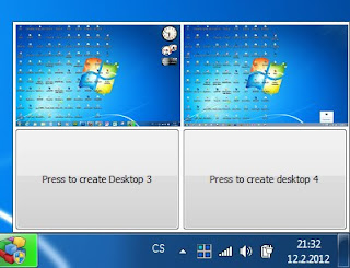 Microsoft Desktops - screenshot na Windows 7