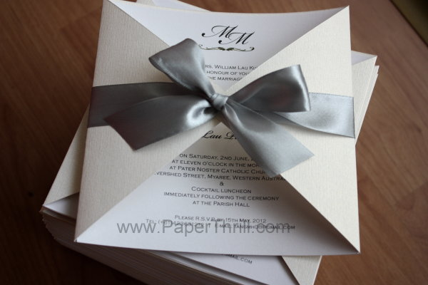 Mark Lau S Triangle Cut Pocket Wedding Invitation Card Malaysia