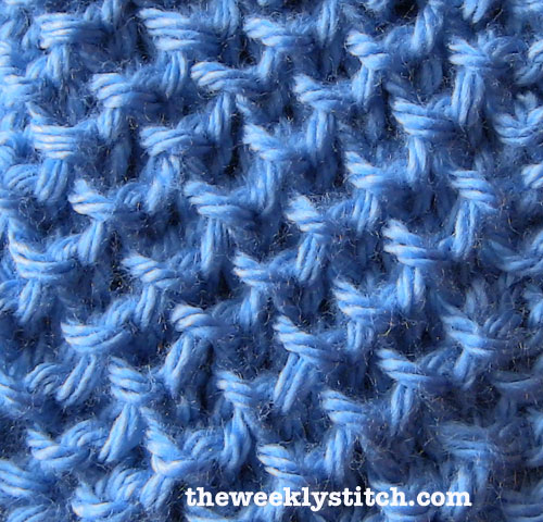Sl Stitch In Knitting : Waffle Brioche, or Plaited Brioche Stitch The Weekly Stitch