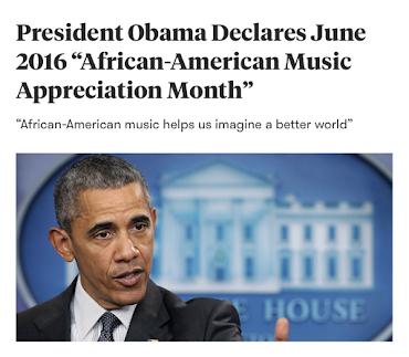 June 2016, African-American Music Appreciation Month