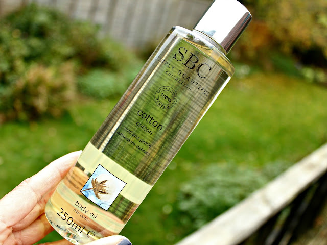 A picture of the SBC Cotton Body Oil
