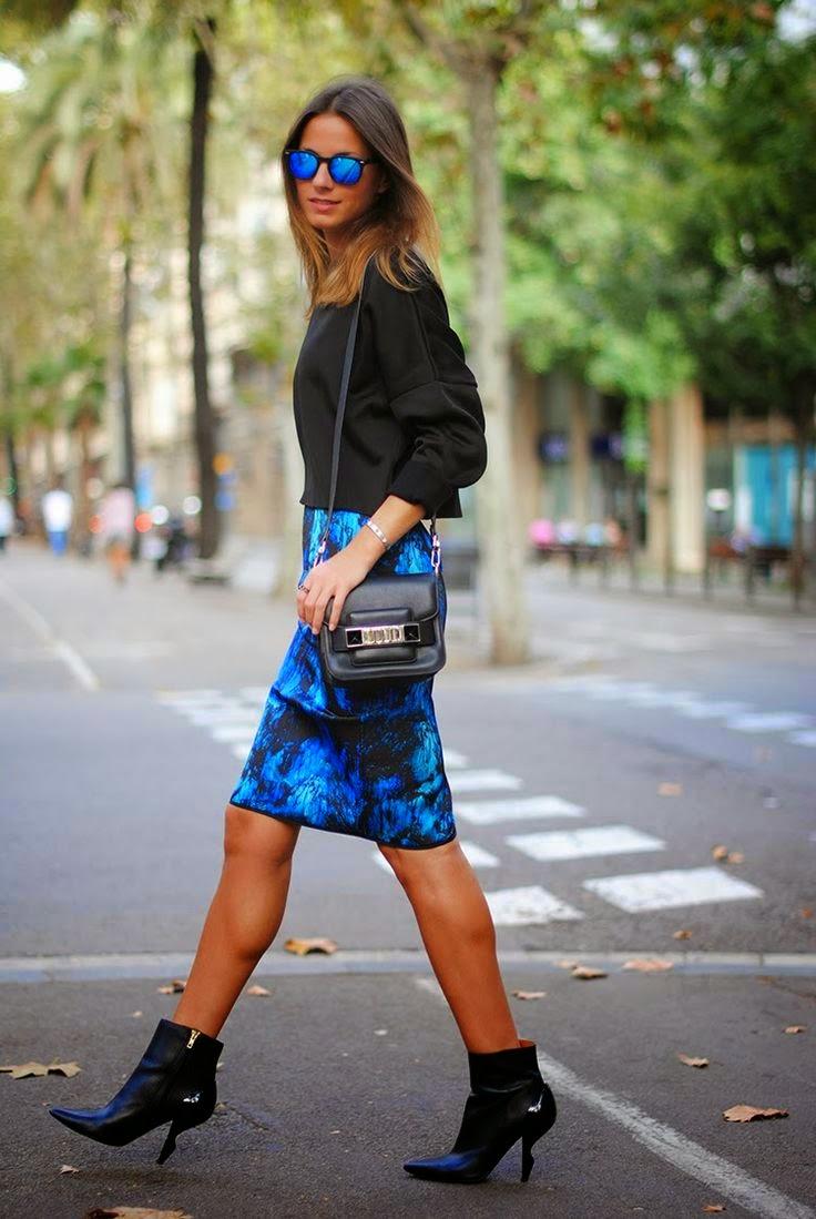 saia lapis- Saia Neoprene-modelo de saia-modelos de saias-saias da moda-saia de neoprene-saias neoprene-saias femininas-saias de neoprene-saia preta-saia rodada-saia-sino-saias curtas-saia curta-roupas-femininas-moda verão 2015-neoprene-looks em neoprene-look com saia-Neoprene Skirt
