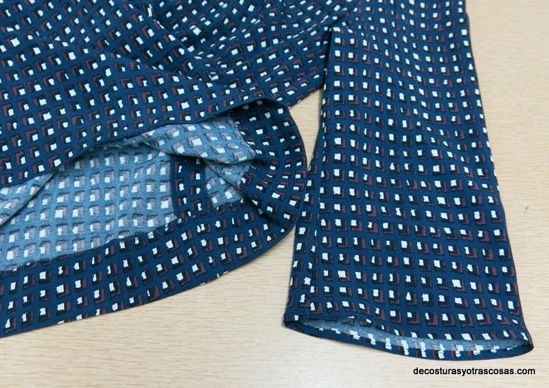 como coser bastilla de vestido y manga