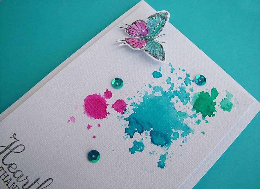 Ink blots, distress inks
