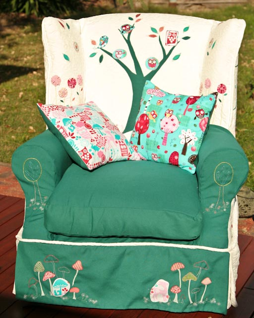 Little Impu0027s Armchair Is Complete, With Little Matching Pillows. What Fun  Iu0027ve Had. Check Back To Recovering An Armchair Part One For The Chair Used  To Look ...